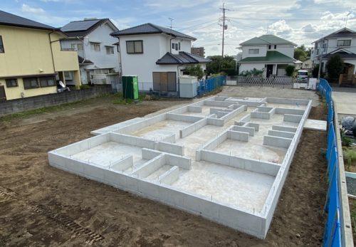 O'house新築工事 基礎工事完了致しました。